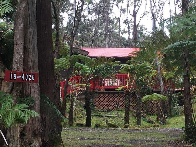 Cozy Cabin in Volcano Village minutes from Volcano Park entrance., location de vacances à Volcano