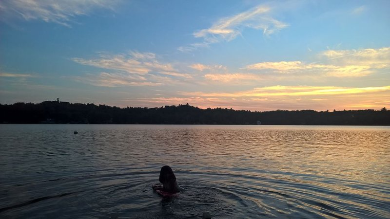 Sunset swims are gorgeous.