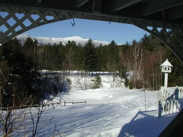Sit on the back deck and marvel at the view of Mt. Mansfield