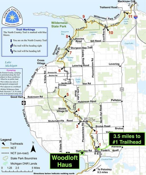 Préfère le bois, pas de problème! Près de North Country Trail pour la randonnée et le VTT