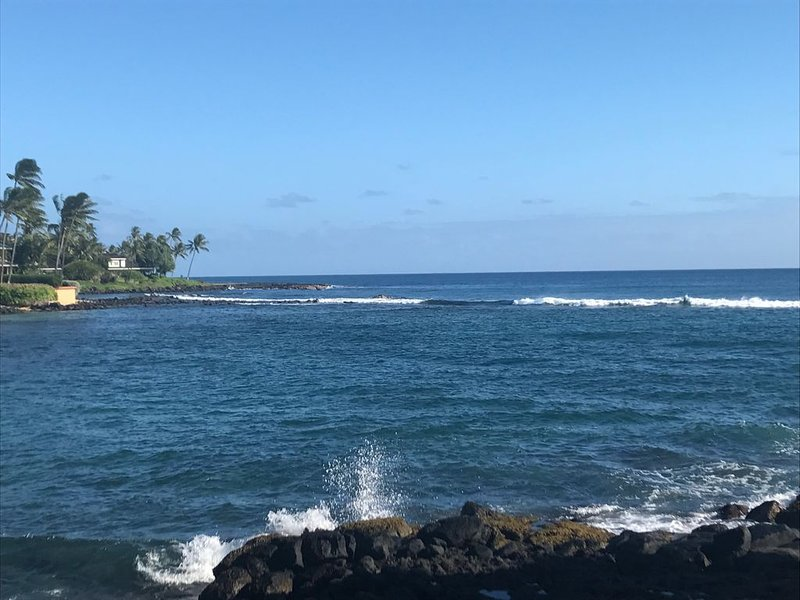 Fully Renovated Oceanfront with Air Cond. Ground Floor Unit with Spacious Lanai!, location de vacances à Poipu