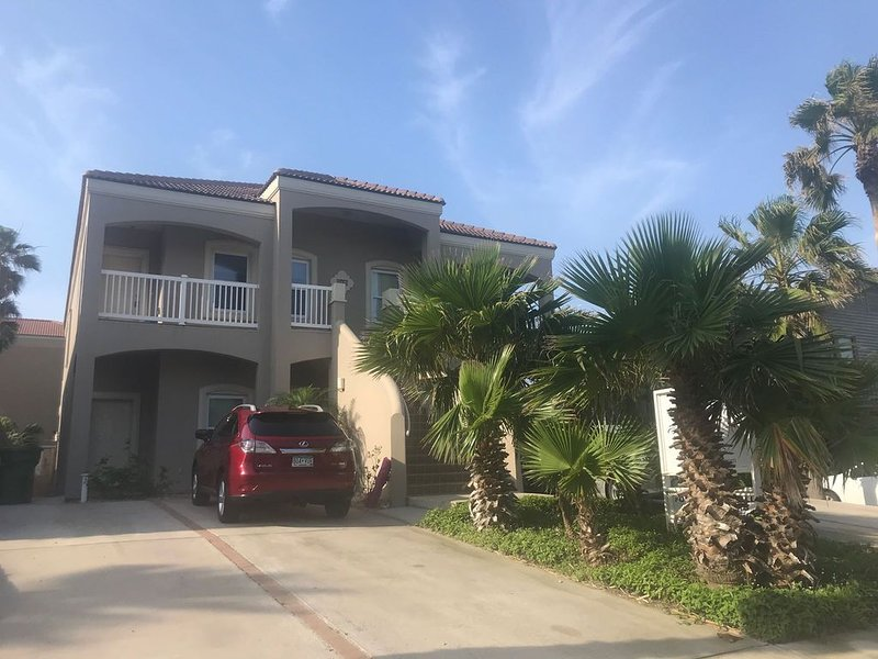 Surfside condo with balcony view,  125 steps to the beach, heated pool, sleeps 6, vacation rental in Port Isabel