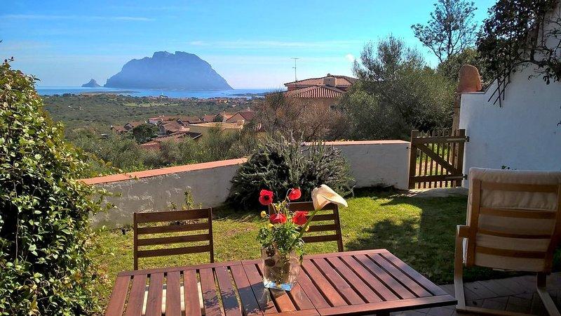 Terrace overlooking Tavolara