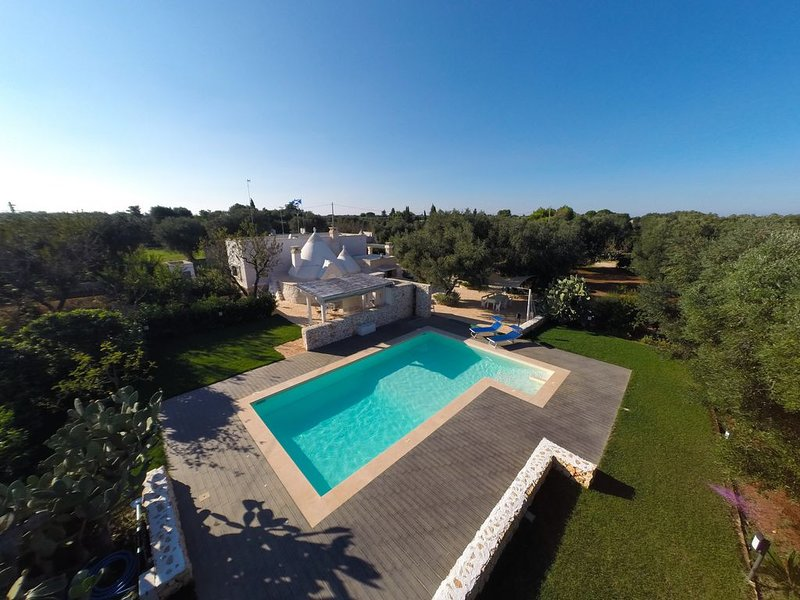 Trullo of Salento with swimming pool