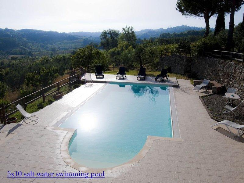 sant ermo 3: appartamento grande in tipico casolare Toscano del1800, holiday rental in Casciana Alta