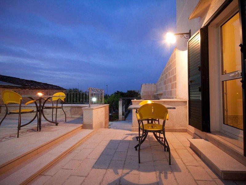 Appartamento Verde in Villa AlSalento.Tutti i comfort, silenzioso, bagno privato, location de vacances à Montesano Salentino