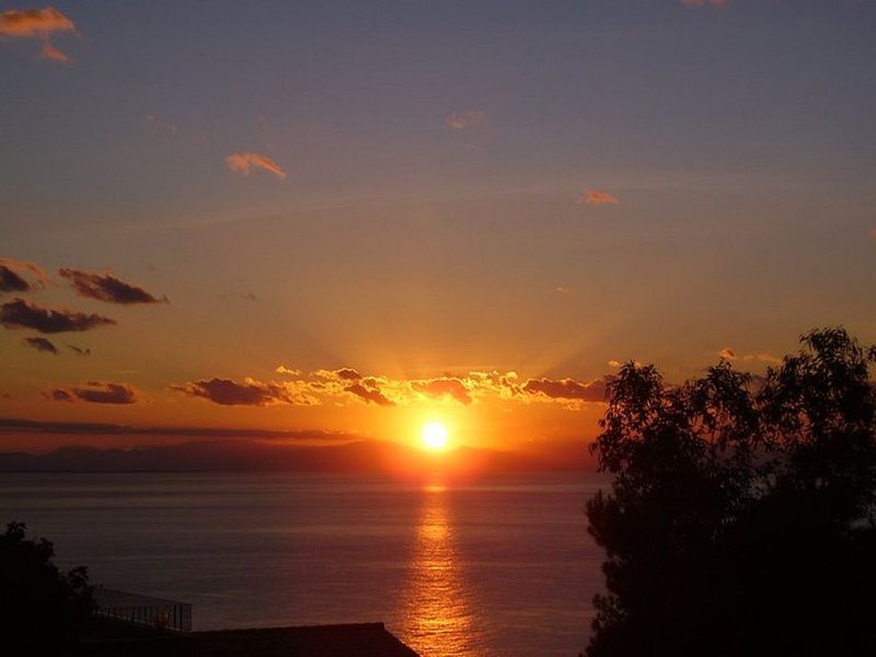 One of the beautiful sunsets that can be enjoyed from the terrace or garden