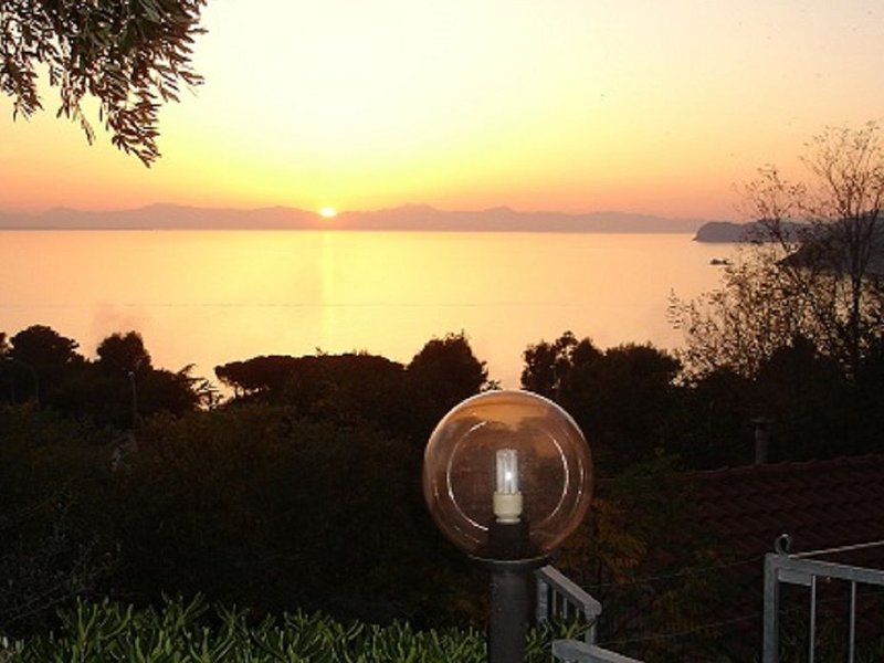 Sunset on Corsica and the island of Pianosa