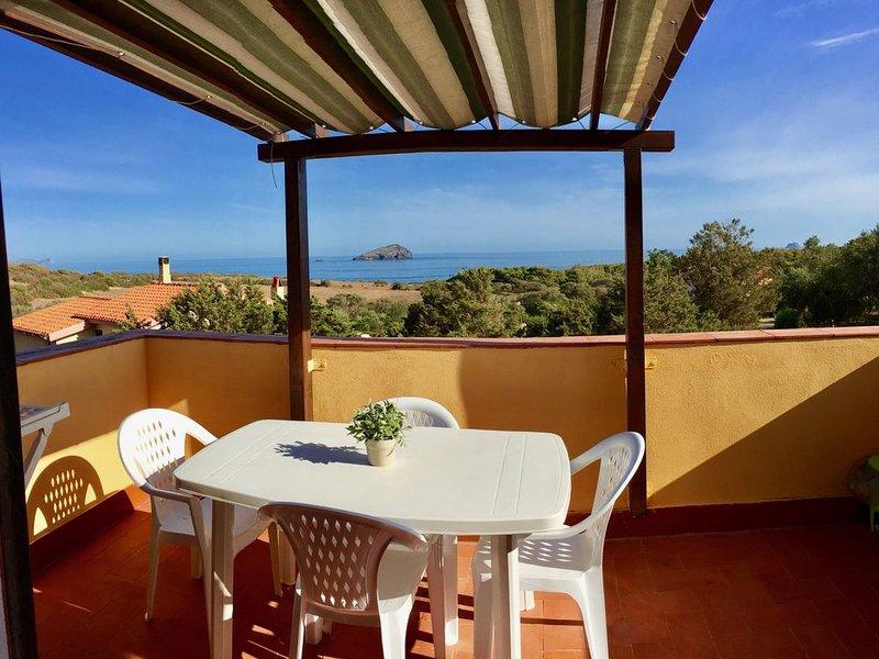bilocale PANORAMICO con terrazza vista mare - Sardegna, casa vacanza a Sant'Antioco