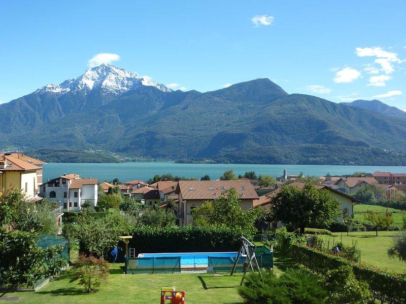 Terrazza con vista lago mozzafiato, holiday rental in Gravedona ed Uniti