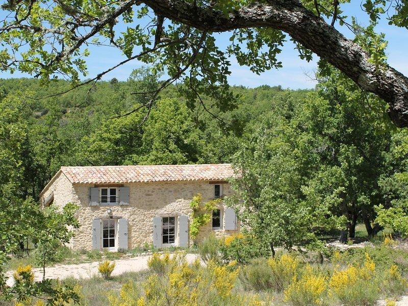 Typisch provenzalisches Natursteinhaus mit Pool in absolut ruhiger Alleinlage, holiday rental in Castellet
