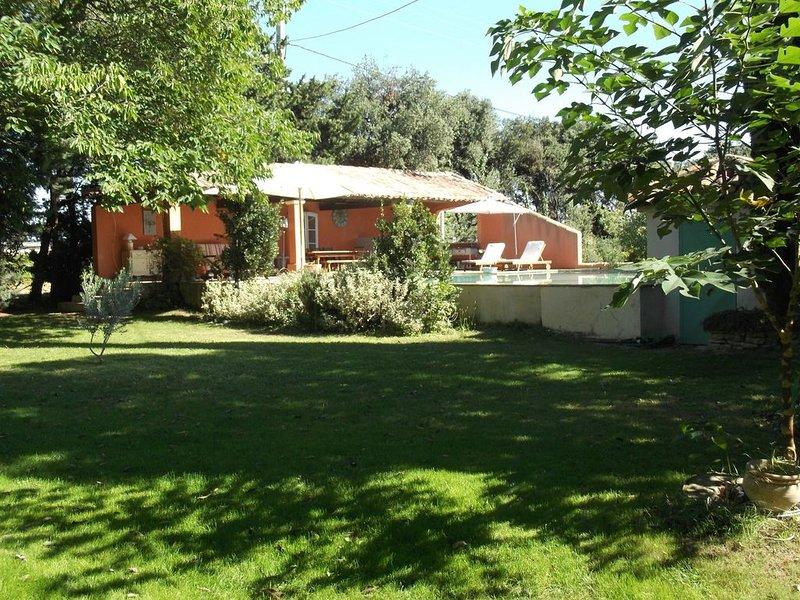 villa proche Avignon au milieu des vignes 6 personnes, location de vacances à Violes