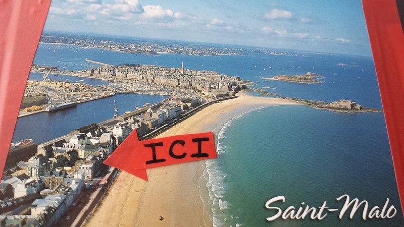 'VUE SUR MER' a 25 métres de la  PLAGE du sillon  500 métres d'intra et thalasso, aluguéis de temporada em Saint-Malo