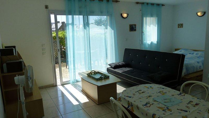 Très beau studio avec Terrasse à 2 pas de la plage - Damgan - ( D ), holiday rental in Le Tour-du-Parc
