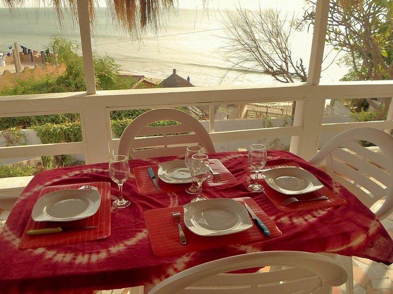 vue plage depuis la terrasse