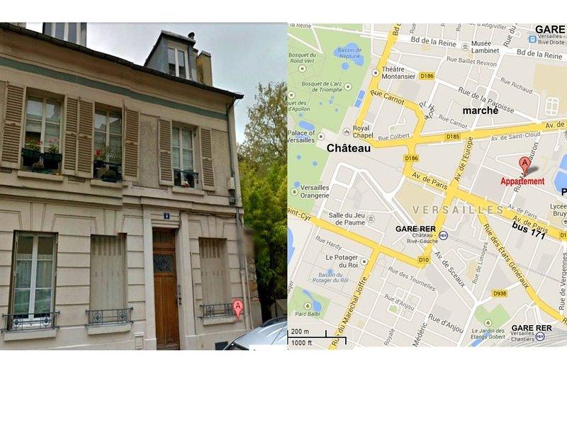 appartement quartier château proche rer C, location de vacances à Versailles
