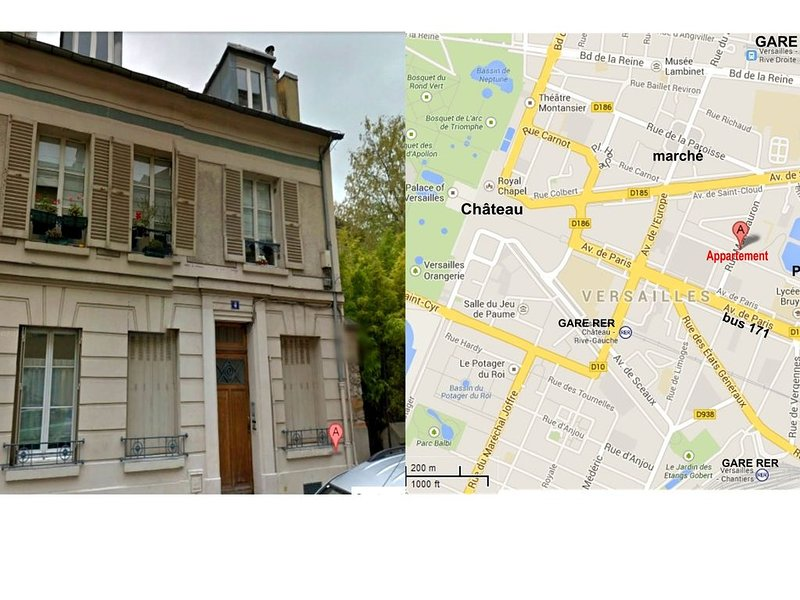 appartement quartier château proche rer C, vacation rental in Guyancourt