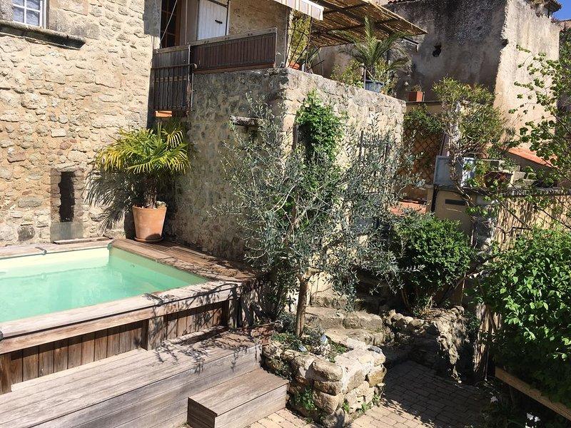 Grande maison de village avec piscine sud Luberon, aluguéis de temporada em Saint-Martin-de-la-Brasque