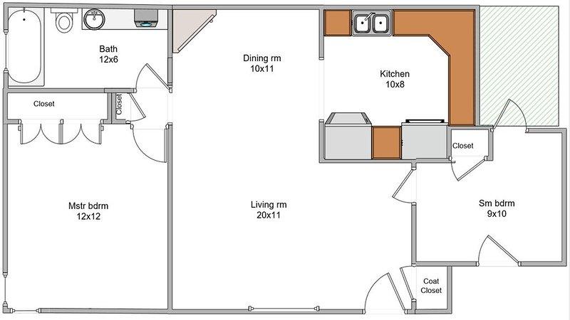 Topeka Listing at Lake Shawnee!  2 BDRM, 1 BATH.  Remodeled & New Furniture, alquiler vacacional en Kansas
