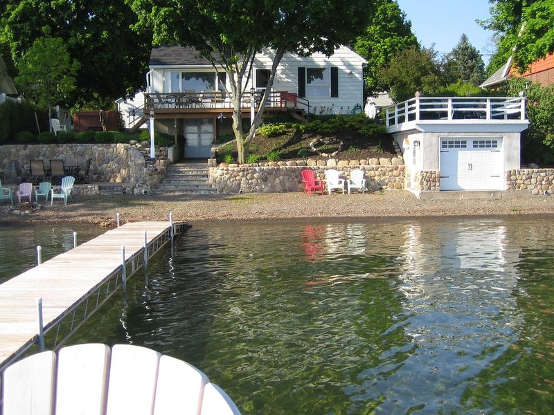 Tie your boat up for all water sports. Level lakefront, gradual water entry.