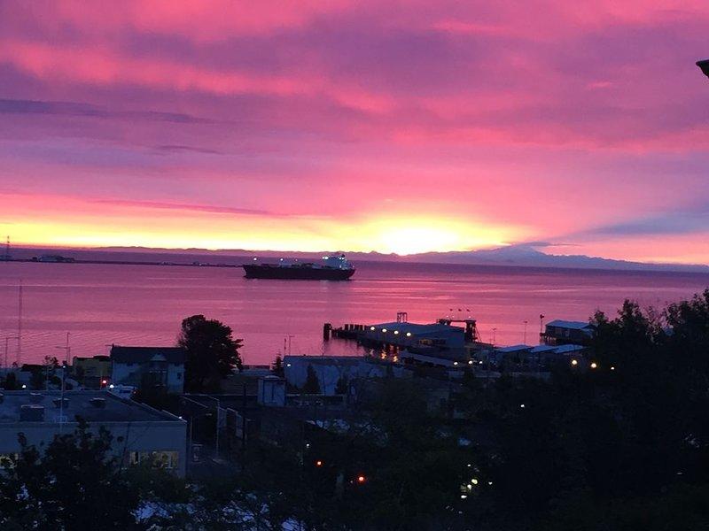 Great Harbor Views, Walk to Victoria Ferry and downtown, Roomy Apartment!, alquiler de vacaciones en Port Angeles