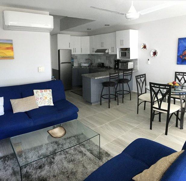 Beautiful fully renovated 2 bedroom Beachfront loft , check our summer specials, alquiler de vacaciones en Flamingos