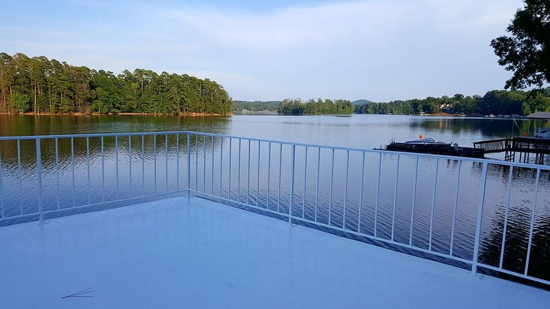 View from atop the private dock