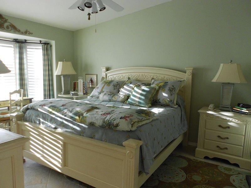 Bella camera da letto principale con letto king size, armadio 2walk e bagno annesso