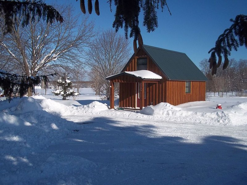 Tiny Cabin in Constableville at the foot of Tug Hill, holiday rental in Glenfield