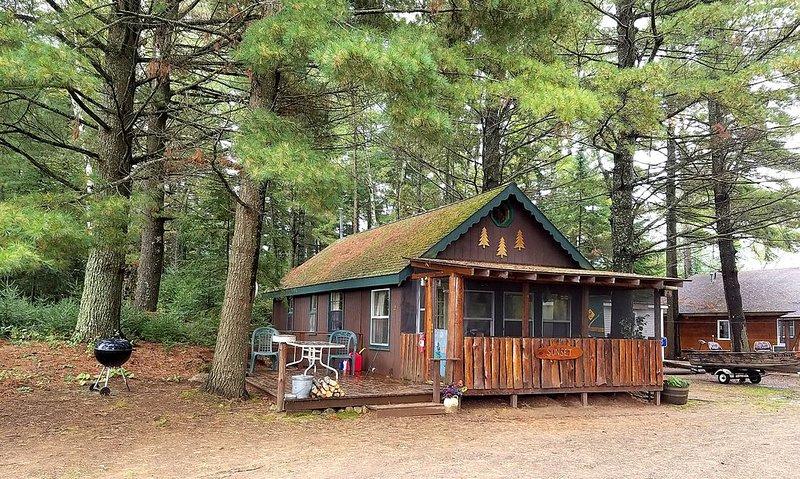 Boulder Junction Cabin on snowmobile trails and Fishtrap Lake!, holiday rental in Boulder Junction