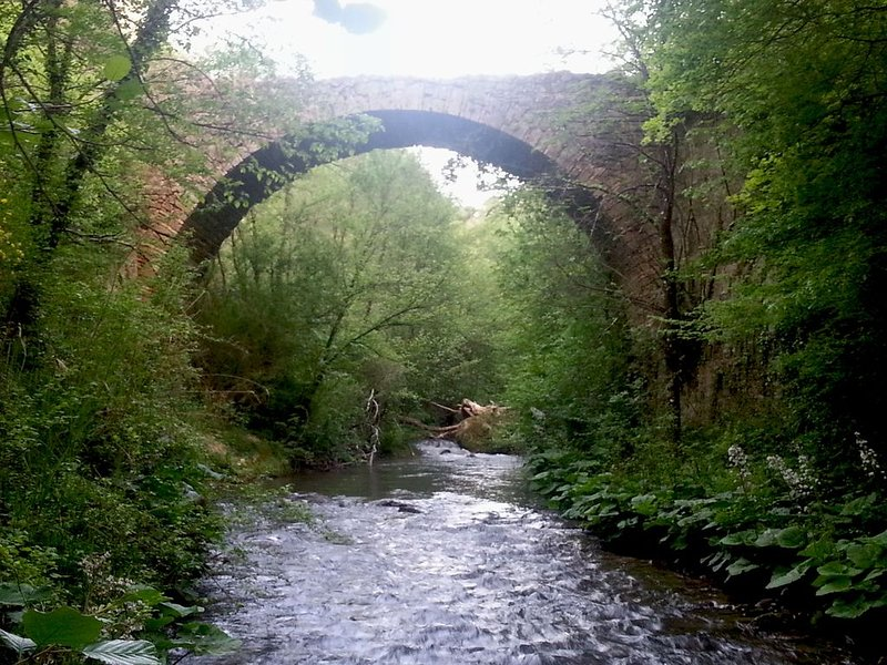 Los minutos del río Farfa lejos de la casa son perfectos para refrescarse cuando hace calor.