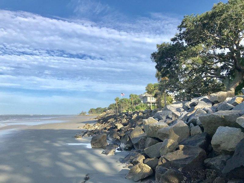 Beach Rocks at end of Street