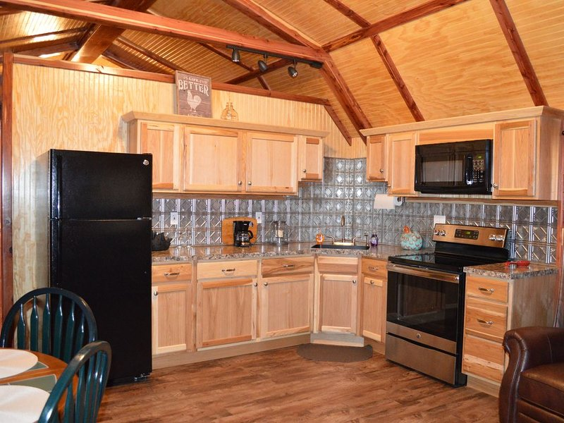 Beautiful cozy rustic cedar cabin located close to Rocky Top Winery., holiday rental in Allen