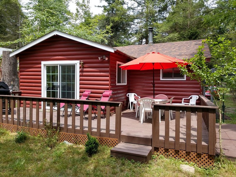 Beautiful woodland cabin with all new furniture, linens, electronics, appliances, alquiler de vacaciones en Ferndale