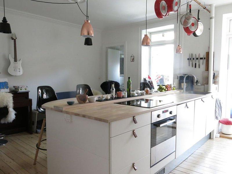 City Apartment in Kopenhagen mit 2 Schlafzimmern 3 Schlafplätzen, vacation rental in Copenhagen