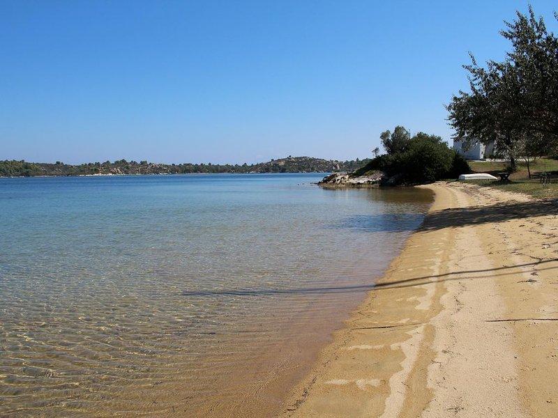 Beach after 150m