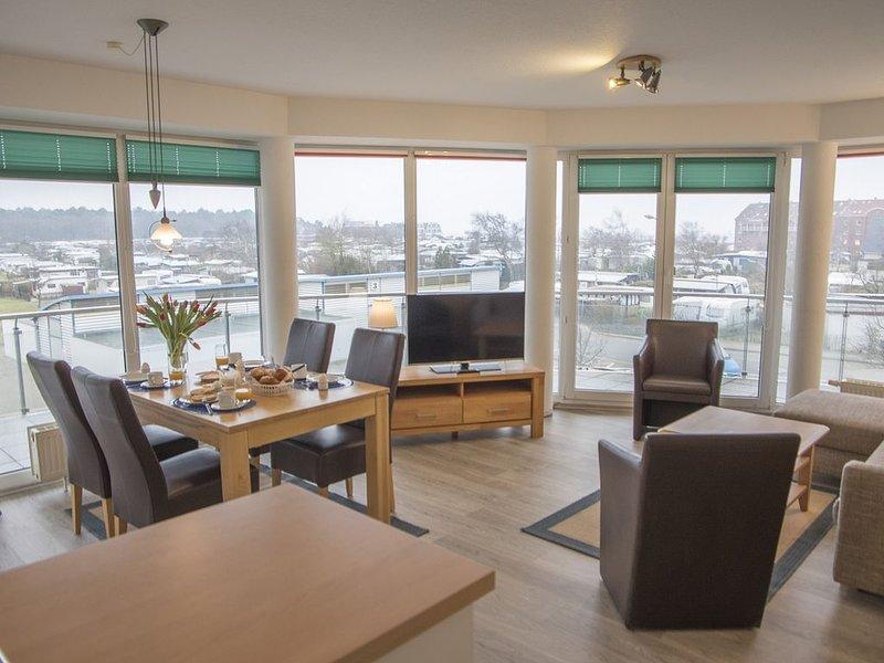 D1.5 - Wunderschöne, moderne Ferienwohnung mit Seeblick, strandnah für bis zu 6 – semesterbostad i Cuxhaven