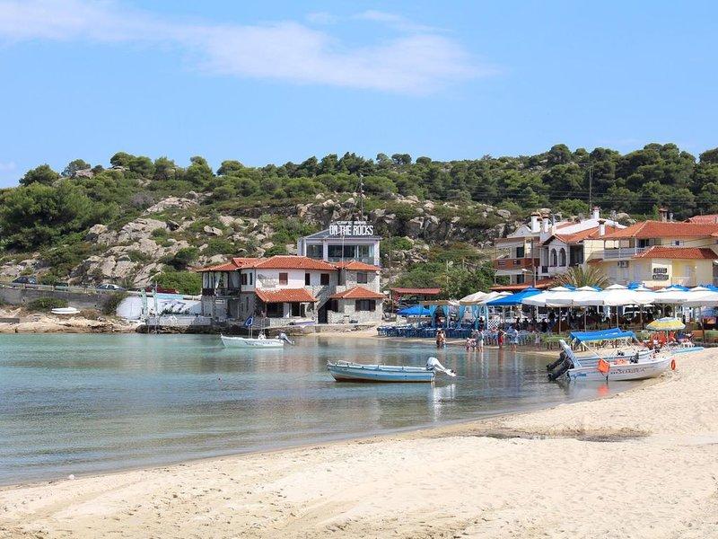 Beach of Ormos Panaghias, about 2.1km away