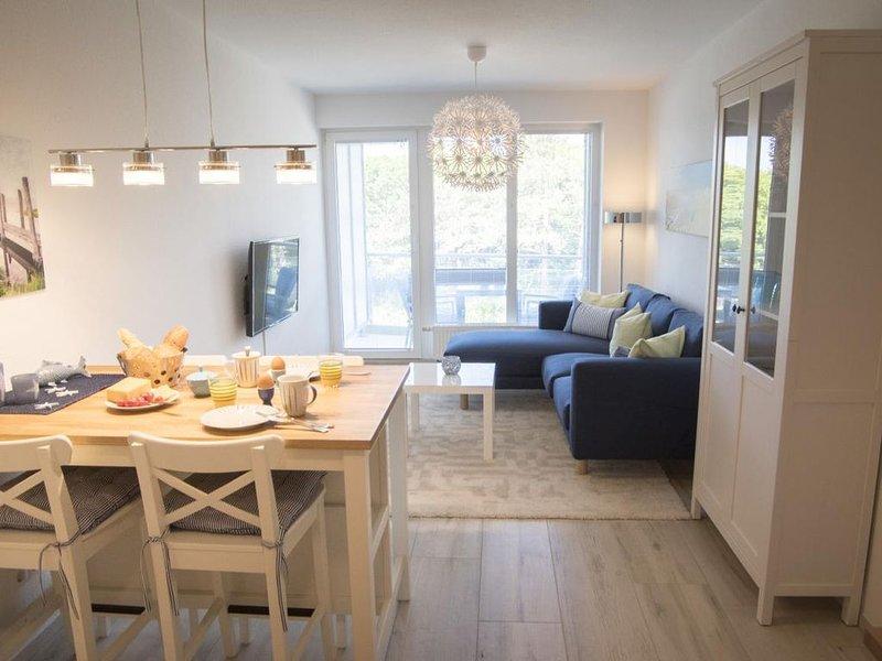 B3.4 - Familienfreundliche Ferienwohnung mit Balkon und Meerblick in Sahlenburg – semesterbostad i Cuxhaven