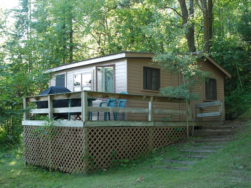 Studio Cabin Hidden in Towering Pines within 10 feet of lake. Pets accepted!, casa vacanza a Nevis
