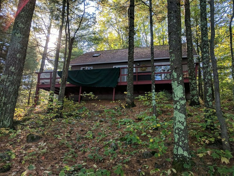 Perfect cabin getaway year round! Nestled in woods on serene lake. Licensed!, holiday rental in Harshaw