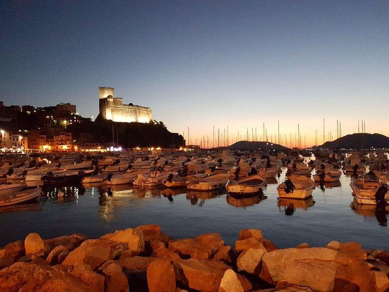 Lerici, Fussgängerzone, Dachterrasse, 80mt vom Meer, Wifi, Einkauf zu Fuss, vacation rental in Lerici