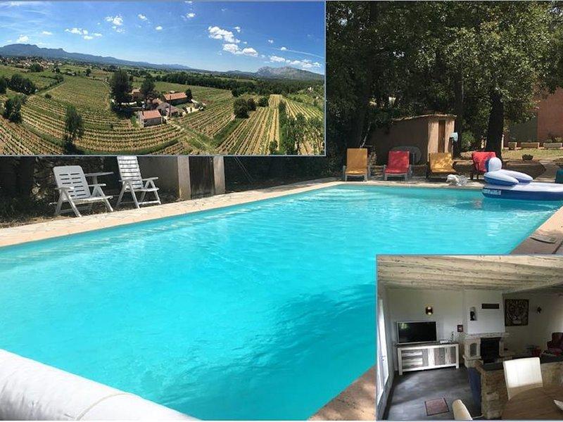 Un havre de paix au milieu des vignes proche d'Aix-En-Provence, location de vacances à Pourrieres