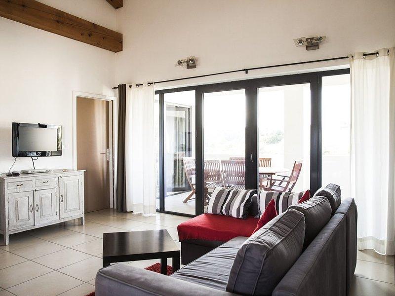 Gîte proche Carcassonne dans un domaine viticole bio, vue sur les Pyrénées, holiday rental in Lastours