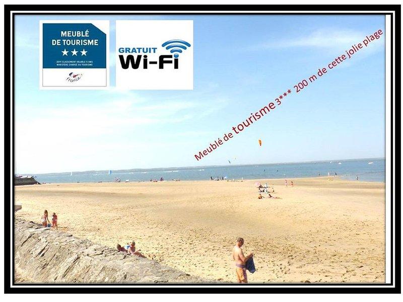 Appartement « Meublé de tourisme 3 *** » de 26m2, à Arcachon, vue sur mer,Wifi, vacation rental in Arcachon