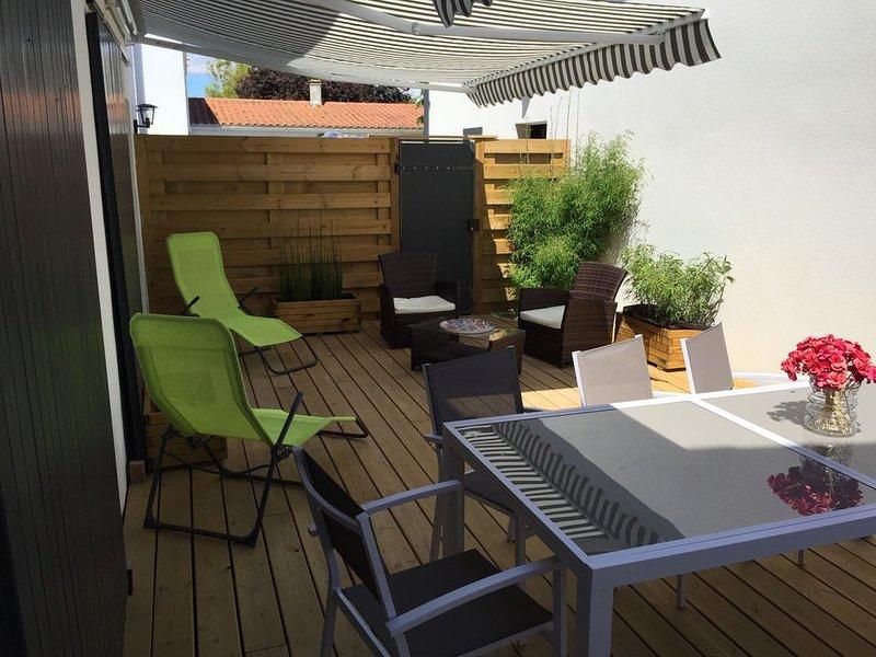 Jolie maison de vacances à 400m de la mer à Angoulins proche La Rochelle, alquiler vacacional en La Jarne