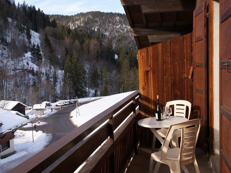 Appartement lumineux avec balcon à 800m du centre ville et 150m des pistes, holiday rental in La Clusaz