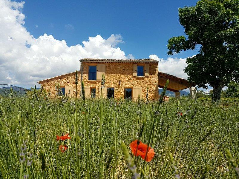 Bastidon avec piscine chauffée et jardin privatif dans le Luberon, vacation rental in Vaucluse