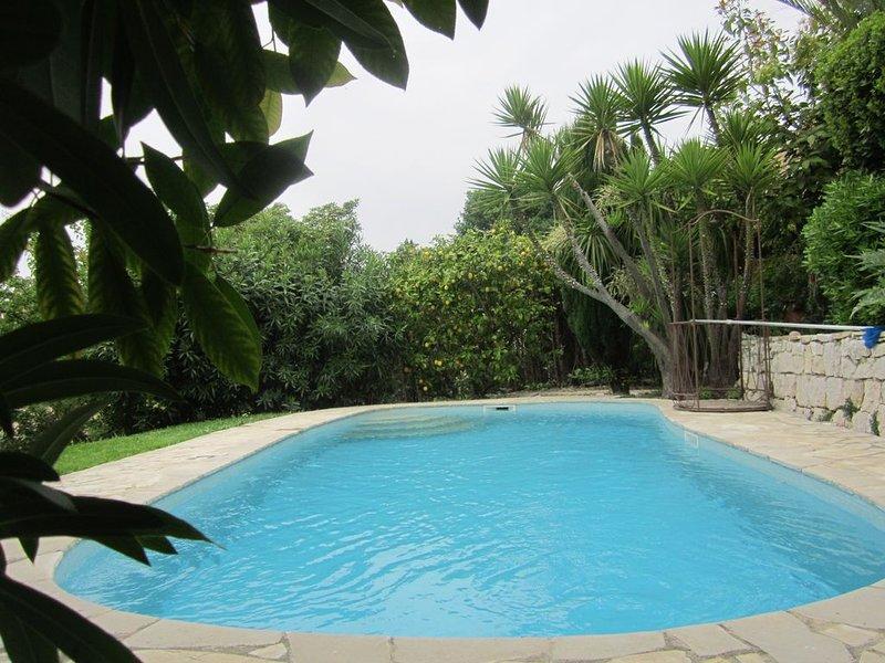 °Offre 2020° Un petit Paradis à 5 min de la mer avec piscine privée -  Jardin, alquiler de vacaciones en Cagnes-sur-Mer