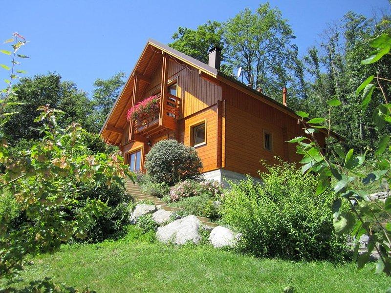 Chalet  en Alsace + SPA et Sauna privatifs-  randonnées  ballons des vosges, holiday rental in Husseren-Wesserling